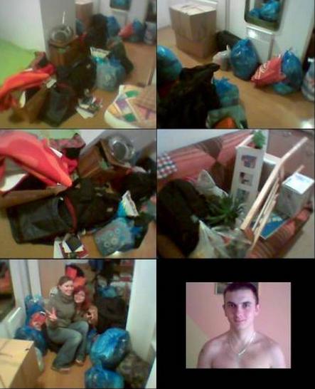 Worki na śmieci, dwa krzesła i koleś ślący obcym dziewczynom MMSy na oślep. Koniec maja 2006.