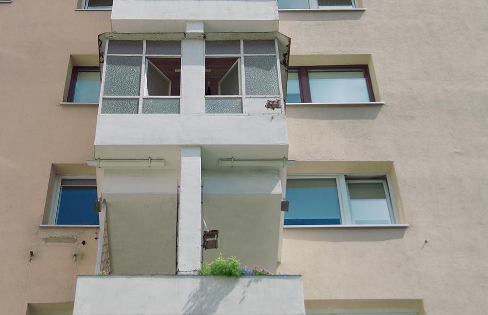 Zabudowany balkon mieszkania 314 na Sonaty 6.